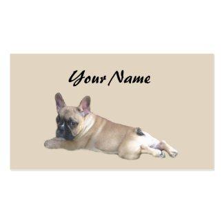 Französische Bulldoggen-Liebhaber-Visitenkarte Visitenkarten