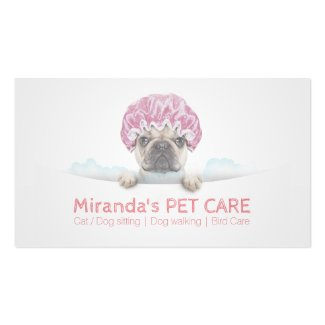 Pet Care / Pet Bathing / Pet Grooming Appointment Visitenkarten