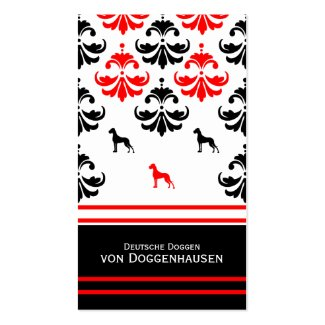 Visitenkarte Dogge